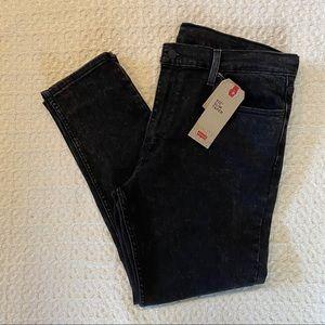 Levi's 512 Slim Taper Black Wash Jeans   NEW